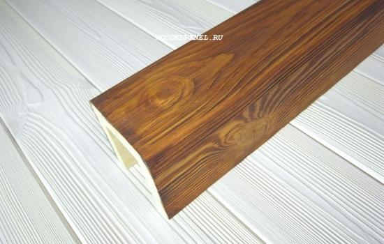 Декоративная текстурированная балка из сосны с покрытием масло